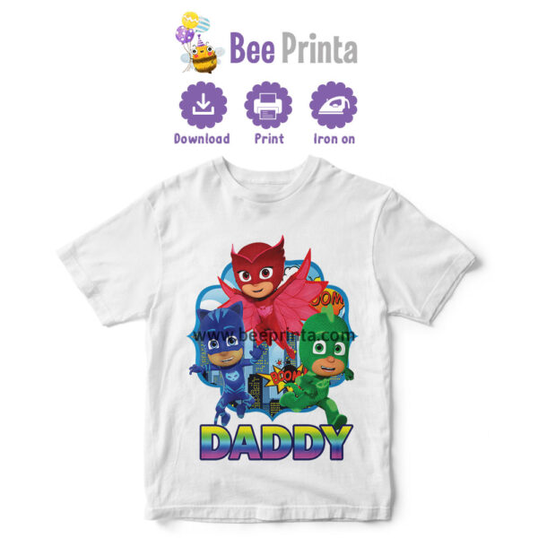 PJ-Mask-Daddy-shirt