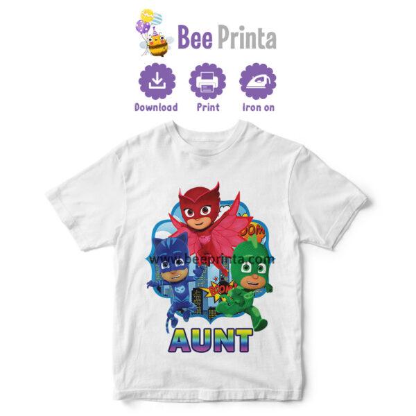 PJ mask Aunt t shirt