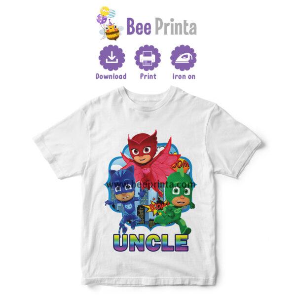 uncle pj mask shirt