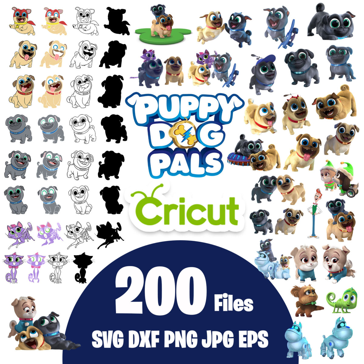 Puppy dog pals clipart