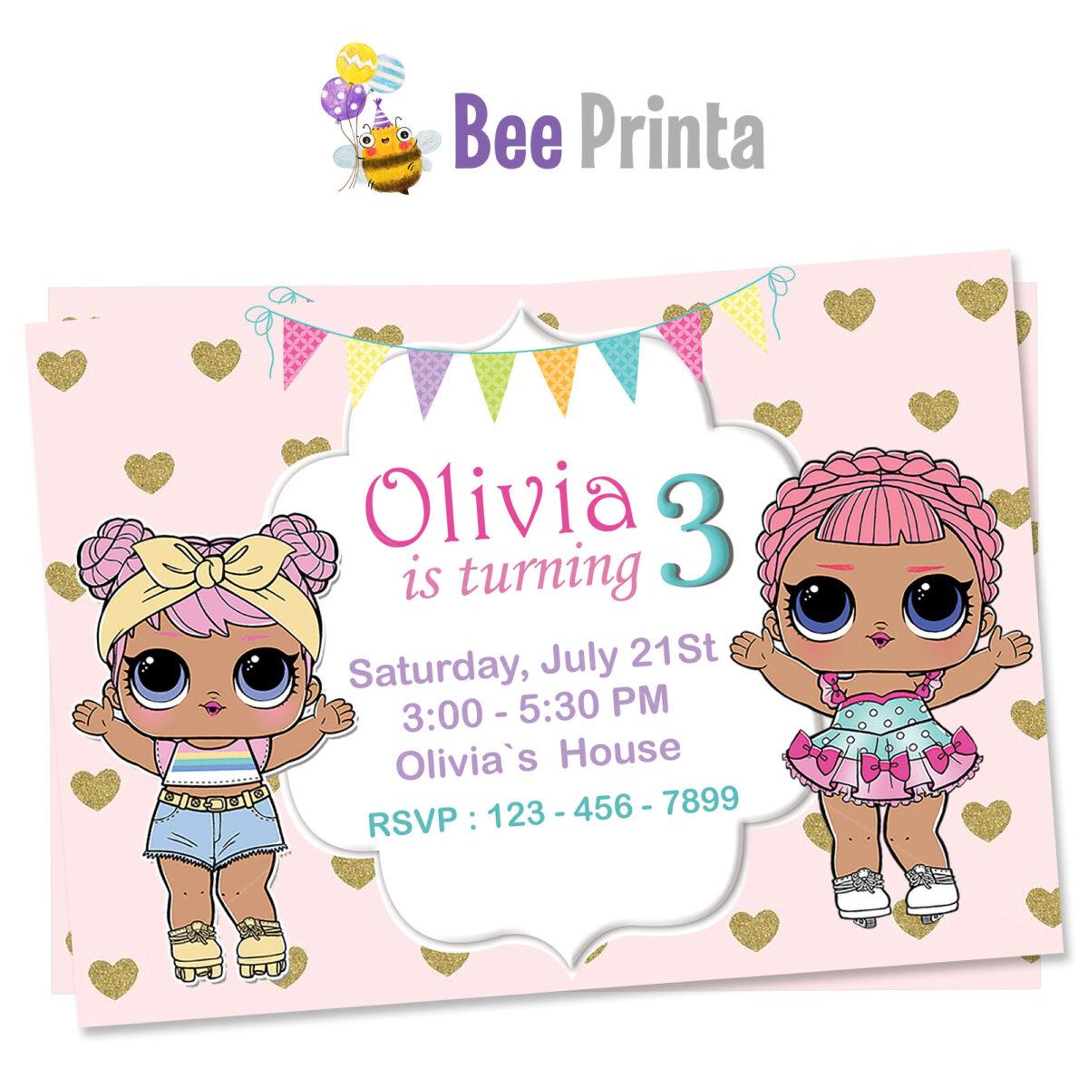 lol dolls invitations