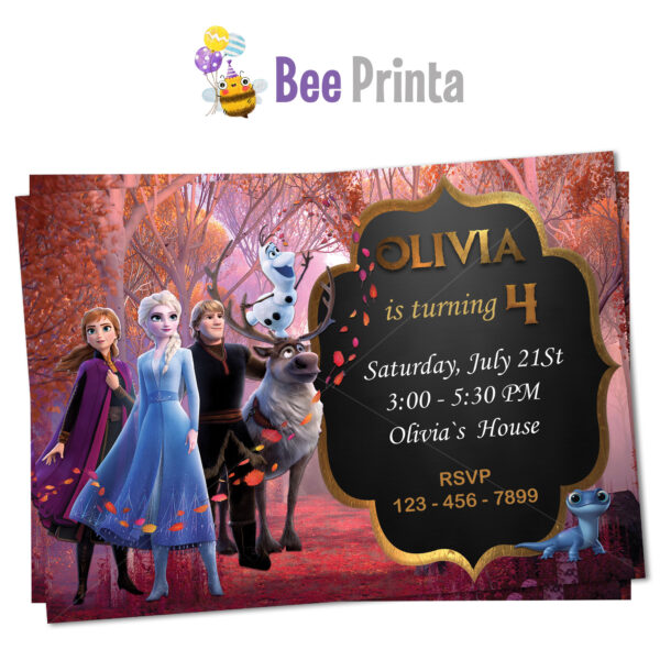 Frozen 2 birthday invitation