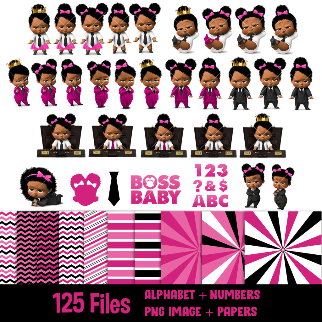 Afro-boss-baby-girl